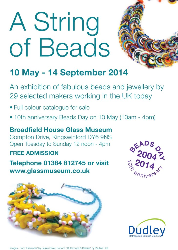 A String of Beads exhibition flier